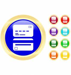 credit card icons vector image