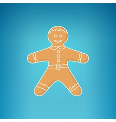 Gingerbread Man Decorated White Icing vector image