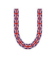 Letter U made from United Kingdom flags vector image vector image