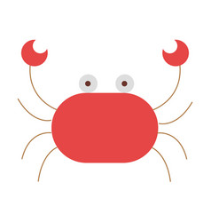 cute crab isolated icon vector image vector image