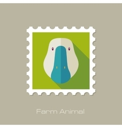 Goose flat stamp Animal head vector image vector image