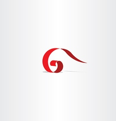 letter g 6 icon red logo symbol sign vector image vector image