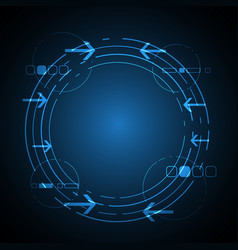 technology future circle background vector image vector image
