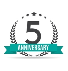 Template Logo 5 Years Anniversary vector image vector image