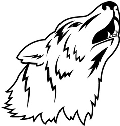 wolf head tattoo vector image vector image