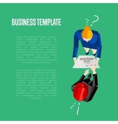 Business template Top view of engineer builders vector image