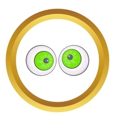 Halloween eyes icon vector