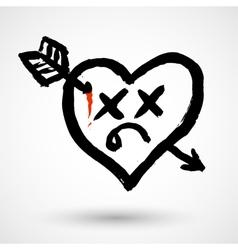 Heart killed icon vector image