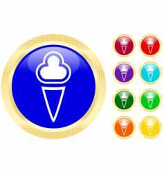 ice-cream icons vector image vector image