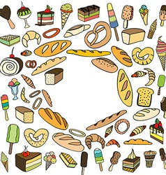 Set of ice-cream vector image vector image