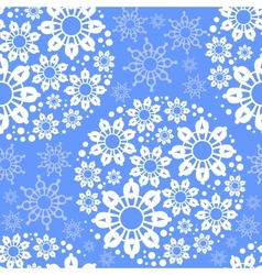 Blue seamless pattern with snowflakes vector image vector image