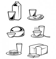 breakfast symbols vector image vector image