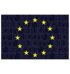 European Union Brexit Text Flag vector image vector image