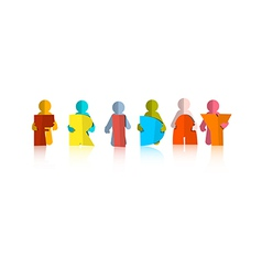 Friday Colorful Title - Paper Cut People and vector image vector image