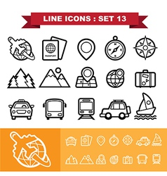 Line icons set 13 vector image vector image
