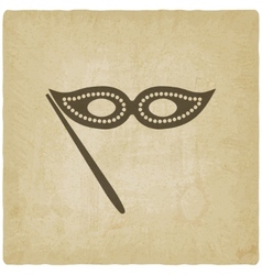 Masquerade mask symbol old background vector image