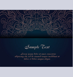 vintage business card template vector image vector image