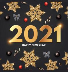 2021 happy new year elegant holiday decoration vector
