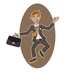 a successful person vector image