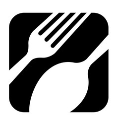 Abstract black logo for a restaurant kitchen or vector