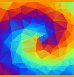 abstract irregular polygonal background spiral vector image