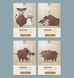 Animal banner with Cows for web design 1 vector