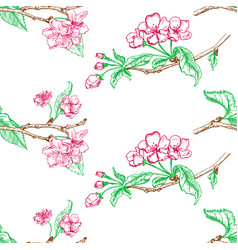 Apple tree sketch design vector
