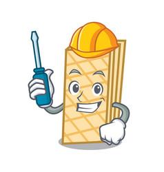 Automotive waffle mascot cartoon style vector