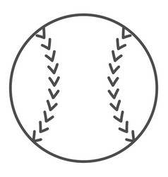 baseball ball thin line icon sport equipment vector image