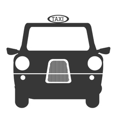 Black british cab graphic vector