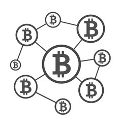 Blockchain network scheme vector