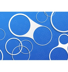 Blue folder white circle design elements vector