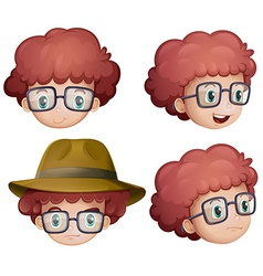 Boy faces vector image