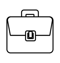 Business briefcase accesorie isolated icon vector