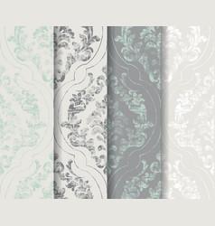 classic flourish ornamented background set vector image