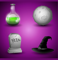collection of halloween symbols vector image