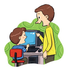 Computer Learning vector image