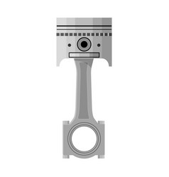 Connecting rod with piston single icon in vector