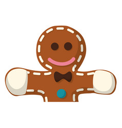cookie round sweet vector image