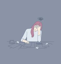 creative crisis fatigue mental stress vector image