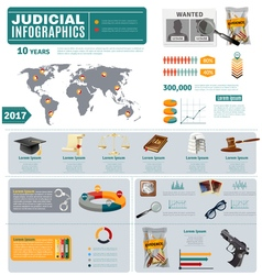 Criminal And Civil Law Flat Infographic Poster vector image