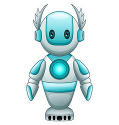 Cute cartoon blue robot vector