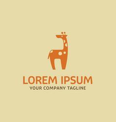 cute giraffes logo design concept template vector image