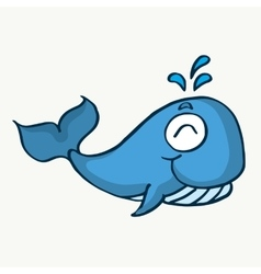Cute whale cartoon design for kids vector