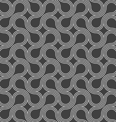 Dark gray ornament with offset rounded shapes vector