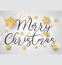 decorative christmas text background with gold vector image