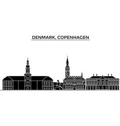 Denmark copenhagen architecture city vector