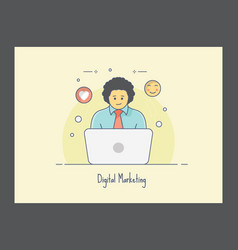 Digital marketing icon vector
