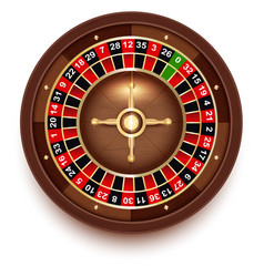 Disc roulette for casino games view from above vector