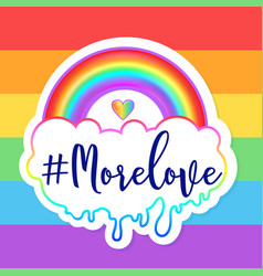 Equal love inspirational gay pride poster with vector